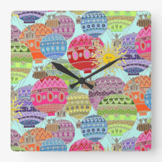 candy sky square wall clock