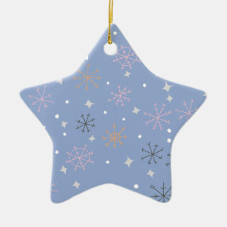 Candy snowflakes ceramic star decoration