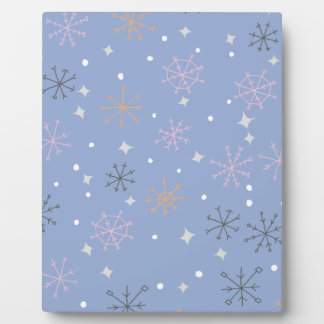Candy snowflakes photo plaque