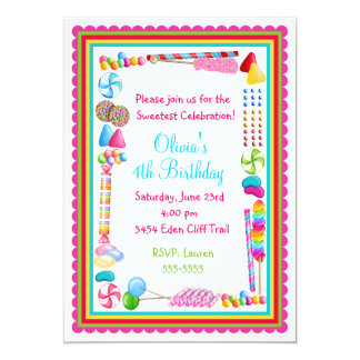 Candy Sprinkle Birthday Invitations