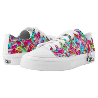 Candy Sprinkle Pattern Printed Shoes