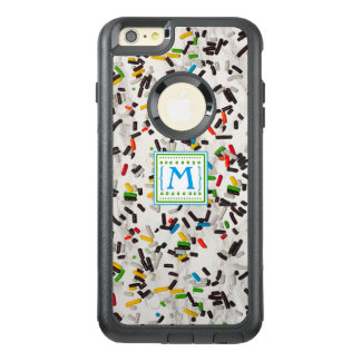 Candy Sprinkles with Monogram OtterBox iPhone 6/6s Plus Case