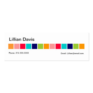 Candy Squares profile card Business Card