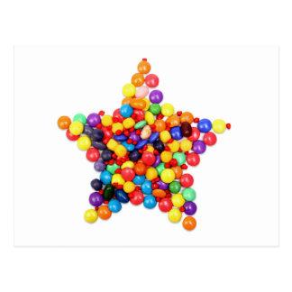 Candy Star Postcard