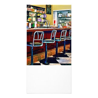 Candy Store With Soda Fountain Photo Card Template