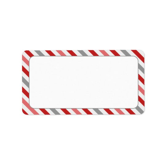 Candy Stripe Border Label