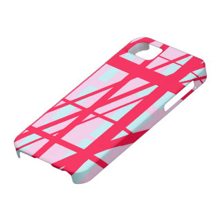 Candy Stripe Red Pink Blue Cute Summer Pattern Barely There iPhone 5 Case