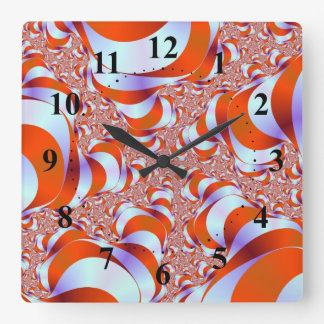 Candy Stripe Roots Wall Clock