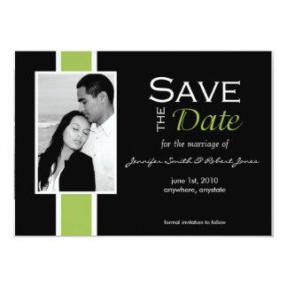 Candy Stripe Save the Date card 13 Cm X 18 Cm Invitation Card