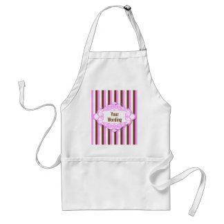 Candy stripe vintage monogram standard apron