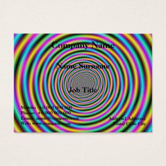 Candy Stripe Vortex Business Card