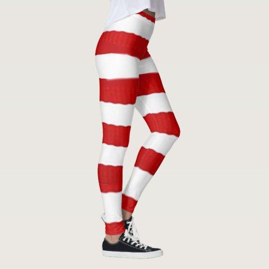 Candy striped leggings