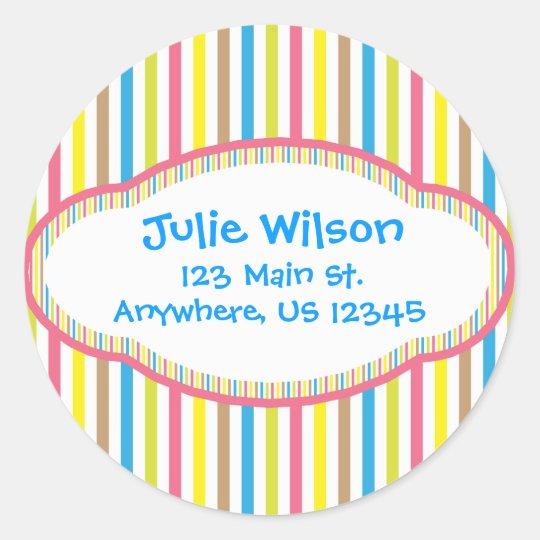 Candy Stripes Address Stickers