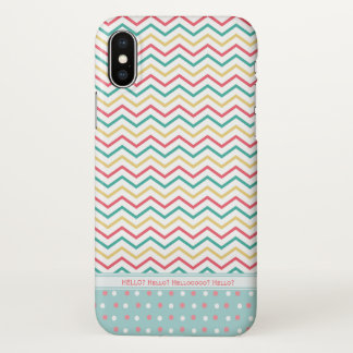 Candy Stripes and Polka Dots Cute Chevron Pattern iPhone X Case