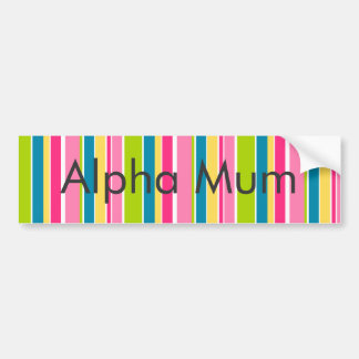 Candy Stripes Bumper Sticker