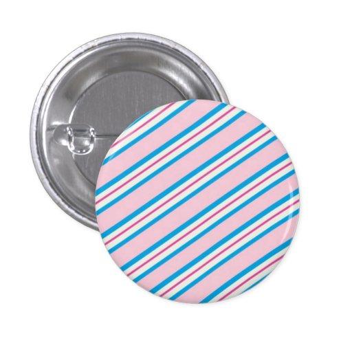 Candy Stripes: Cotton Candy Button