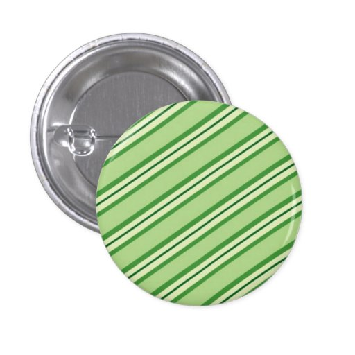 Candy Stripes: Green Apple Pinback Buttons