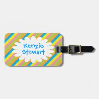 Candy Stripes Luggage Tag