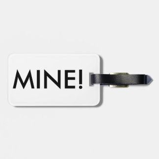 "Candy Stripes ""Mine!"" Luggage Label"