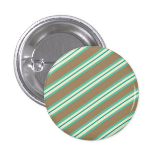 Candy Stripes Mintachocolatte Pinback Buttons