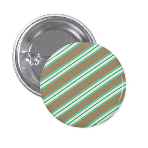 Candy Stripes: Mintachocolatte Pinback Buttons