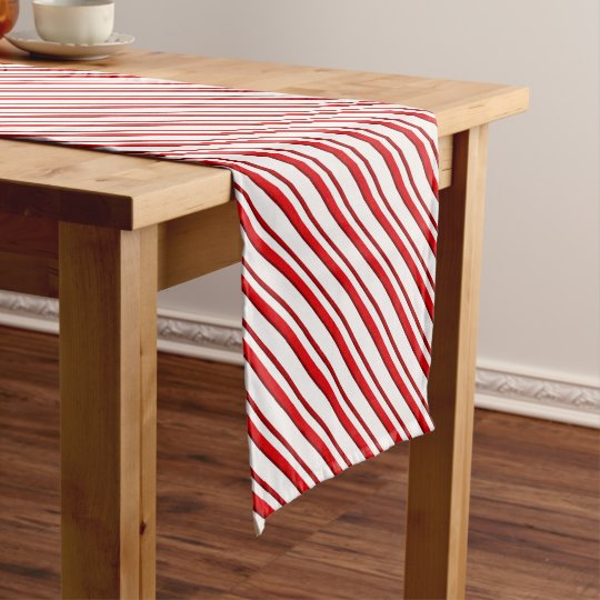 Candy Stripes, peppermint red & white Short Table