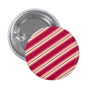 Candy Stripes: Raspberry 3 Cm Round Badge