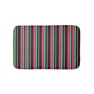 Candy Stripes strawberry mint green chocolate Bath Mats