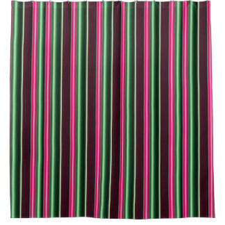 Candy Stripes strawberry mint green chocolate Shower Curtain