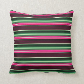 Candy Stripes strawberry mint green chocolate Throw Pillow