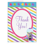 Candy Stripes Thank You Greeting Cards