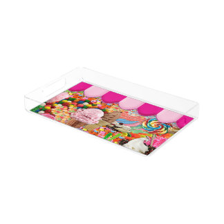 Candy Super Sweet Ice Cream Funny Acrylic Tray