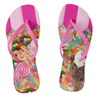 Candy Super Sweet Ice Cream Funny Flip Flops