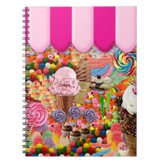 candy Super Sweet Ice Cream Funny Note Book
