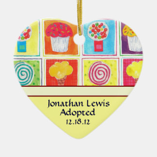Candy Sweets Adoption Announcement Ornament