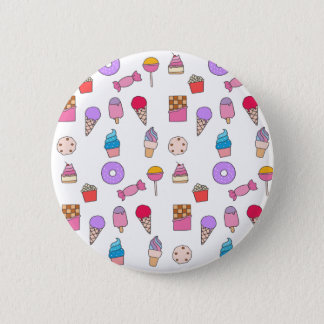 Candy, sweets and cake 6 cm round badge