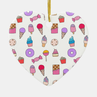 Candy, sweets and cake christmas ornament