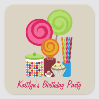 Candy & Sweets Birthday Party Sticker