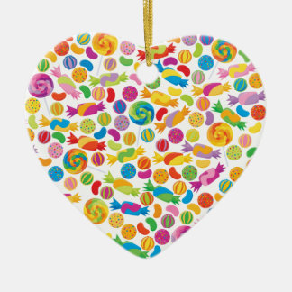 Candy Sweets Ceramic Heart Decoration