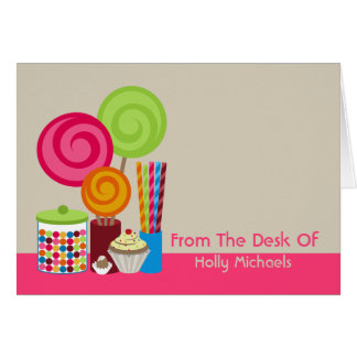 Candy & Sweets Personalized Notecard Greeting Card