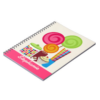 Candy & Sweets Personalized Spiral Notebook