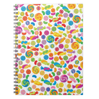 Candy Sweets Spiral Notebook