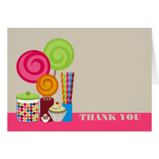 Candy & Sweets Thank You Card