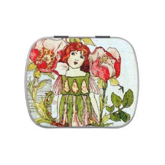 Candy Tin - Small Square Vintage Ephemera Fairy