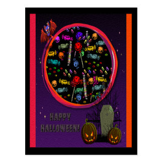 Candy Tombstone and Jack o Lanterns Post Cards