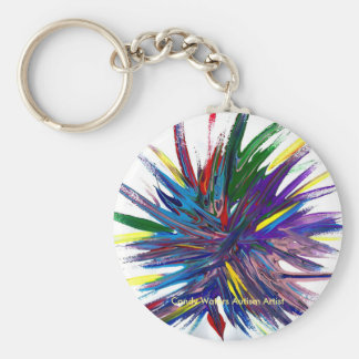 Candy Waters Autism Artist Basic Round Button Key Ring