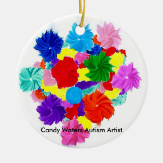 Candy Waters Autism Artist Christmas Ornament