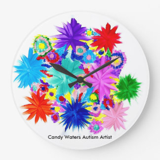 Candy Waters Autism Artist Large Clock