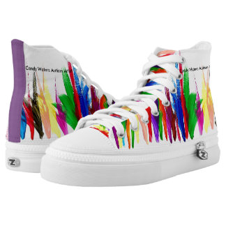 Candy Waters Autism Artist Printed Shoes