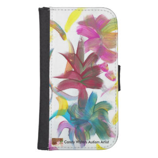 Candy Waters Autism Artist Samsung S4 Wallet Case